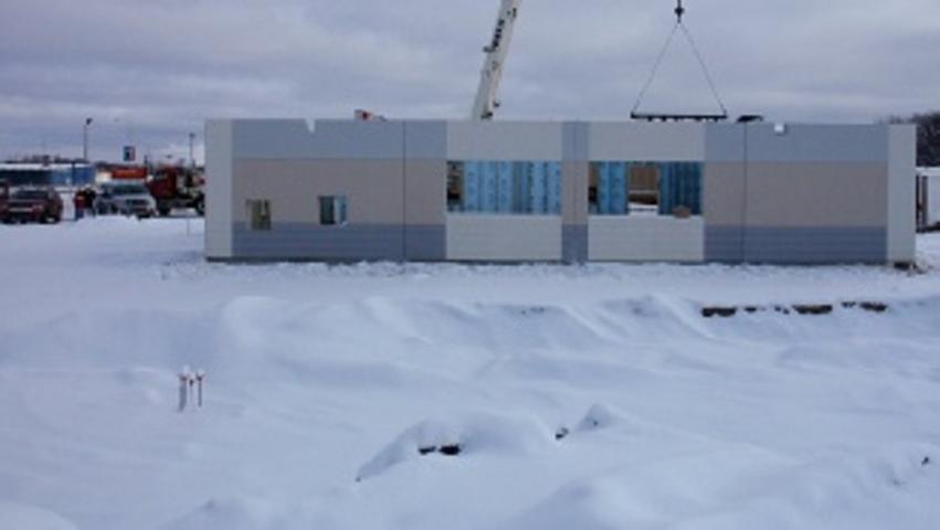 Construction On Winter Season